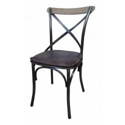 Iris spisestol m/læder sæde
