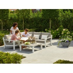 LIFE Timber hjørnesofa med bord og stol