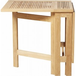 Teak klapbord med 4 klapstole