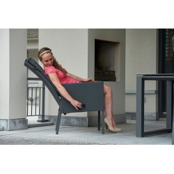 4 stk Caribean pos.stol, grå