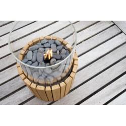 Timber gaslanterne m/teak