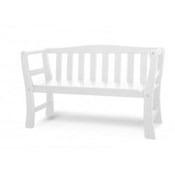 Havebænk hvid, 135 cm