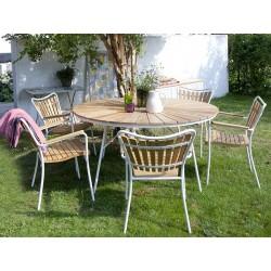 Sunrise teak sæt med 4 stole