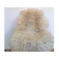 Hvide lammeskind 105 cm